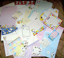 Lot of 30 Sheets Snoopy Peanuts Stationery / Stationary Memo Sheets Assorted