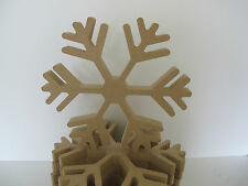 Wooden Snowflake Shape Premium Quality 200mm High 18mm Thick