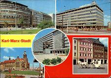 Karl-Marx-Stadt Chemnitz DDR Mehrbild-AK ua, Hochzeitskutsche Rathaus Centrum W.