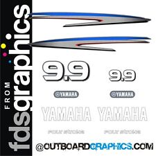 Yamaha 9.9hp 4 stroke outboard engine decals/sticker kit - others available