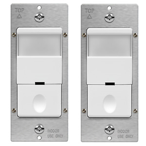 TOPGREENER PIR Infrared Occupancy Detector Motion Sensor Switch Ground 2 Pack