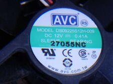 AVC DS09225S12H-009 12V 0.41A DC Brushless Fan 3 wire 3 pin