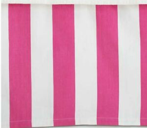 Pinecone Hill Brand Alex Fuschia Stripe Pink Twin Paneled Bed Skirt