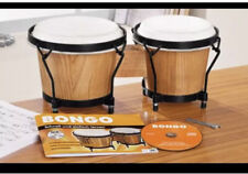 More details for sale💯new bongo drum set,natural leather.+cd