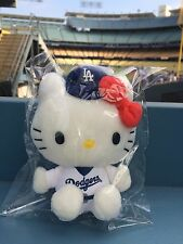 2015 Hello Kitty Plush Doll Los Angeles LA Dodgers SGA 7/8/15 New In Package.