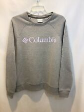 New Columbia Women's Gray Sweatshirt Size Large Long Sleeves Round Neck