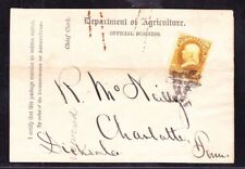 US O1 1c Agriculture Department Official on Printed Wrapper appr SCV $2500