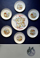 Porcelaines d' Orchies / Le Moulin des Loups - Service à Fromages - 1960