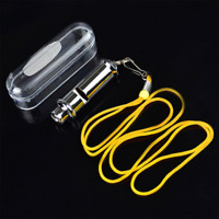 Stainless Steel Silver Camping Survival Whistle Useful SportsWhistlesOutdoorTool