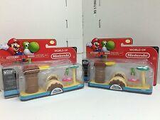 Nintendo Super Mario Bros U Micro Land Yoshi Layer Cake Desert 3 Piece Pack x2