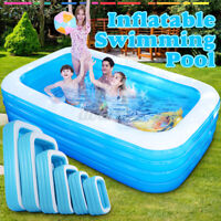 Inflatable Swimming Pools For Adult Kids Family Pool Home Out/ Indoor Backyar