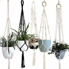 Hanging Planter Basket Handmade Pot Holder Macrame Plant Hanger Rope Braided Pot