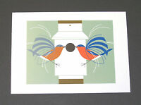 """Charles//Charley Harper Notecards /""""Wings Of The World/"""" 4 Pack w//Envelopes"""