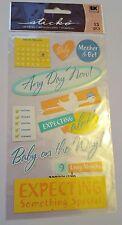 NUOVO con confezione Sticko Stickers aspettando Madre Bambino In Arrivo CICOGNA 9 mesi