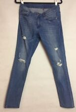 6b267c17aac Women s Skinny Stretch Jeans H M Red Concept Size 30in distressed Medium  Wash