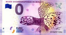 98 MONACO Musée océanographique, Tortue, 2018, Billet 0 € Souvenir