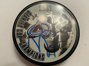 RAY BOURQUE 2001 Stanley Cup Colorado Avalanche AUTOGRAPHED Signed NHL Puck COA