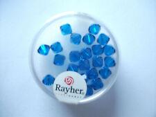 Rayher Swarovski Kristall-Schliffperlen 25 Stück 6 mm nachtblau Bastelperlen