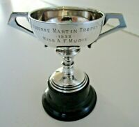 Solid Silver Trophy Cup on Stand, Hallmarked Birmingham 1937