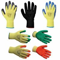 Yellow Portwest A200 Furniture Hide Leather Work Safety Glove Black