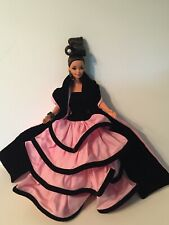1996 ESCADA Barbie Doll Limited Edition Collector Black & Pink Design Gown (OA)