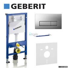 GEBERIT DuoFix UP100 wall hung toilet frame WC 1.12m chrome plate+brackets & mat