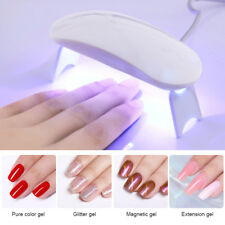 6W White UV Lamp Nail Gel Curing Machine USB Cable Mini Nail Dryer  Tool
