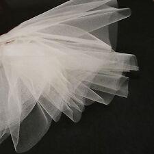 Crema de boda tul velo tejido 300cm ancho - red fina - se vende por metros