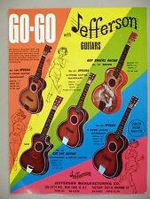 Jefferson Guitar 2-Page PRINT AD - 1968 ~ guitars ~ Roy Rogers