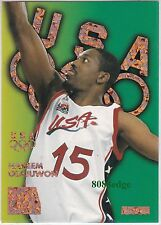 1996 SKYBOX USA BASKETBALL BRONZE SPARKLE: HAKEEM OLAJUWON #B6 ROCKETS MVP/HOF