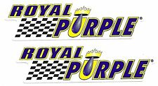 "Royal Purple Racing Decals Stickers 7"" Pair (2)"