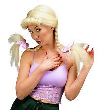 Ladies Blonde Heidi Wig Oktoberfest German Bendable Plait Panto Bavarian Pigtail