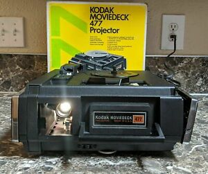 Kodak Moviedeck 477 Vintage Movie Projector Original Box and Manual