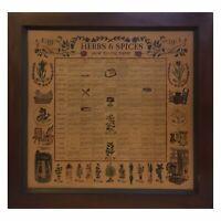 "Vintage 1965 Three Mountaineers Wood Herb Spice Rack Cabinet W/21 Jars~20x19.5"""