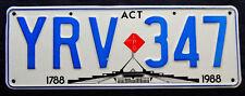 Nummernschild Australien ACT 200 Jahre mit LPG Aufkleber Gasantrieb. S-3794.