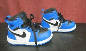 Air Jordan Blue Black & White Baby Toddler Sneakers US Size 6C