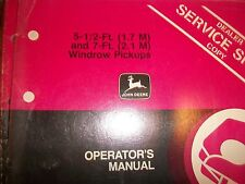 John Deere Operator'S Manual 5-1/2 Ft. And 7 Ft. Windrow Pickups