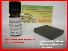 1 X  kit reactif test testeur à tester l'or 18 k 750/1000 ème