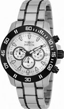Invicta Specialty 21485 Men's Round Silver Tone Day Date 24 Hour Watch