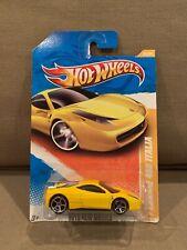 Hot Wheels FERRARI 458 ITALIA Yellow 2010 New Models ~Very Nice~ NIP