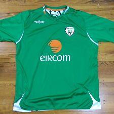 Umbro Eircom Size XL Ireland Green Soccer Futbol FA Jersey