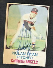 Autographed Nolan Ryan 1975 Hostess Card #58 California Angels New York Mets