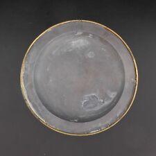 Assiette plat étain cerclée de bronze à la cardinale XVIIe siècle France
