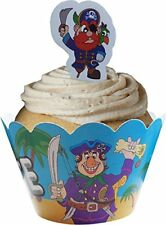 Pirates Cupcake Wraps & Toppers (12 Wraps & 12 Toppers)