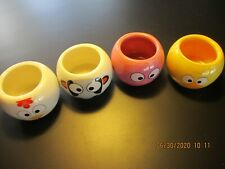 SET of 4 MINI ANIMAL PLANTERS