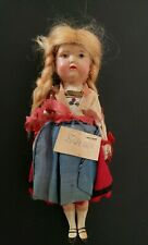 Antique Doll Sweden 8 Inches approx vintage clothes as originally found