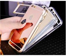 Suave Lujo Espejo metal ultra fino Funda para Apple iPhone 5 6 7 SE 7plus