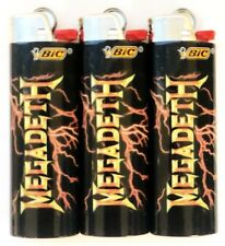 Megadeth Bic Lighters 2 Pack Limited Edition Collectors Gift Item