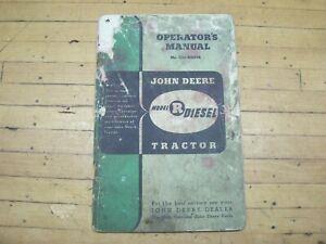 Vintage OEM Original John Deere Model R Diesel Tractor Operators Manual