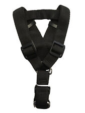 "Dog Step-in Adjustable Nylon Strap Harness (Black - Large) & Matching 48"" Leash"